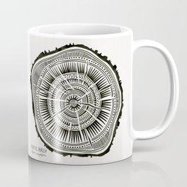 Paper Birch – Black Tree Rings Coffee Mug