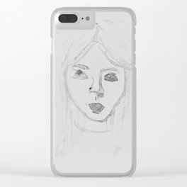 Water Girl Clear iPhone Case