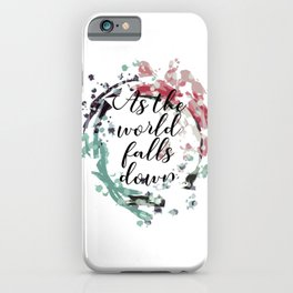 labyrinth movie jareth quotes As the world falls down iPhone Case