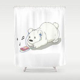Polar Beats Shower Curtain