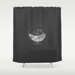 Pacific Northwest Roots Shower Curtain