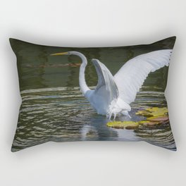 Water Landing Rectangular Pillow