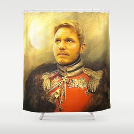 Starlord Guardians Of The Galaxy General Portrait Painting | Fan Art Shower Curtain