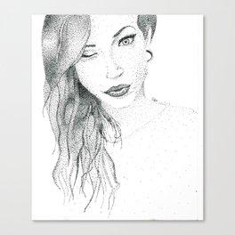 Stippling Canvas Print