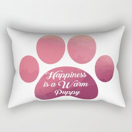 Warm puppy Paw for your Happiness - National Puppy Day Rectangular Pillow