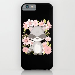 Children Raccoon Small Bear Jungle Zoo Animal iPhone Case