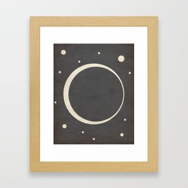 Eclipse- Space is Hot Framed Art Print