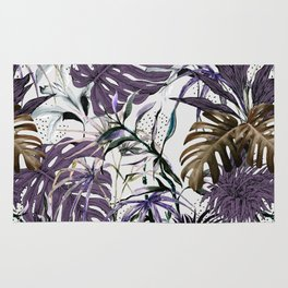 Collage Jungle Tropical Illustration Rug