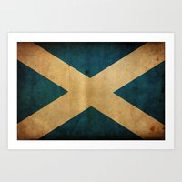 scotland Art Prints featuring Scotland by NicoWriter