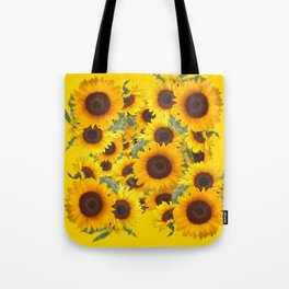 DECORATIVE WESTERN YELLOW SUNFLOWERS FIELDS Tote Bag