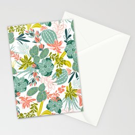 Succulent Garden White Stationery Cards