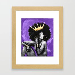 Naturally Queen VI PURPLE Framed Art Print