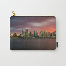 Sunset skyline of Sydney Carry-All Pouch