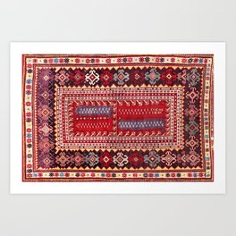 Milas  Antique Turkish Rug Art Print