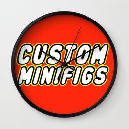 CUSTOM MINIFIGS in Brick Font by Chillee Wilson Wall Clock