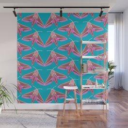 Elephant Hawk Moth - Blue Wall Mural