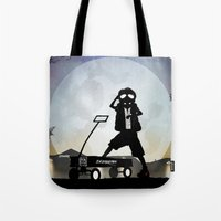 mcfly Tote Bags featuring McFly Kid by Andy Fairhurst Art