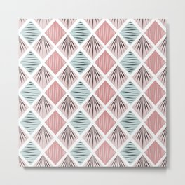 Nordic Pattern II Metal Print