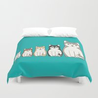 husky Duvet Covers featuring Matryoshka Husky by korpannita
