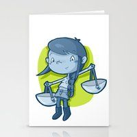libra Stationery Cards featuring Libra by Chiara Zava