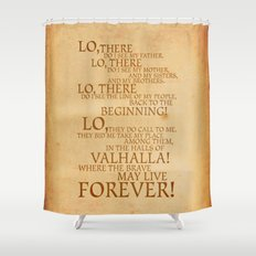 Viking Prayer Shower Curtain