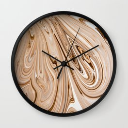 Abstract background of mix color paints Wall Clock