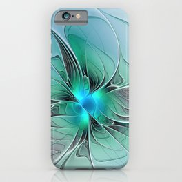 Abstract With Blue 2, Fractal Art iPhone Case