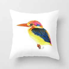 Kingfisher II Throw Pillow