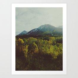 Fall in American Fork Canyon Art Print