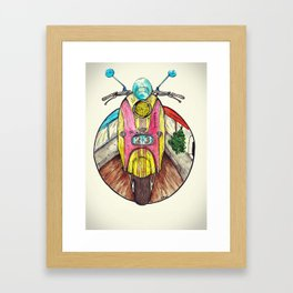 Speed ​​is in everyone. Framed Art Print