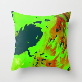 Black and Blue Wave Throw Pillow