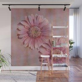 Pink Gerber Flowers Wall Mural