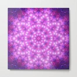 Diamond Star Flower Mandala Metal Print