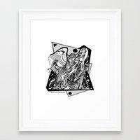 prometheus Framed Art Prints featuring Prometheus by Pat Pot Designs