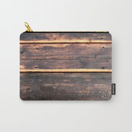 Worn Rustic Wood Boards, Textured Wood Grain Carry-All Pouch