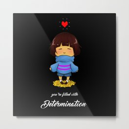 Filled with determination Metal Print