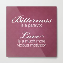 Bitterness & Love Metal Print