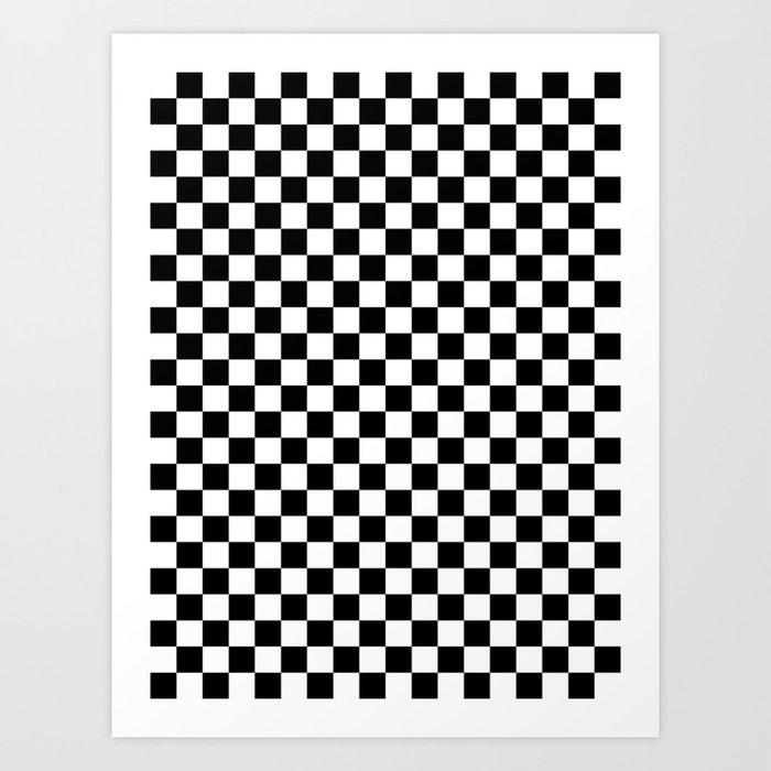 White and Black Checkerboard Kunstdrucke