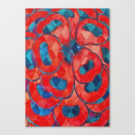 Red and Blue Diamond Pattern Canvas Print
