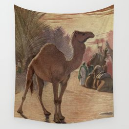 Vintage Camel Painting (1909) Wall Tapestry