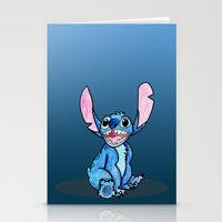 lilo and stitch Stationery Cards featuring Stitch by DROIDMONKEY