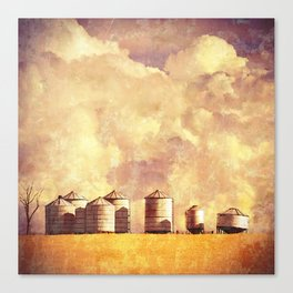 Summer Silos Canvas Print