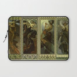 "Alphonse Mucha ""The Moon and the Stars Series"" Laptop Sleeve"