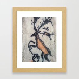 Cave Deer Framed Art Print