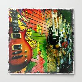 Guitar Wall Metal Print
