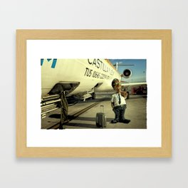 Cpt Roger Cambion, CRJ 900 Framed Art Print