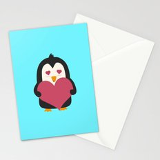 Penguin with a heart   Stationery Cards
