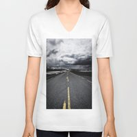 road V-neck T-shirts featuring Road by Nick Verschoor