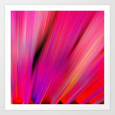 Re-Created  Feather iv by Robert S. Lee Art Print