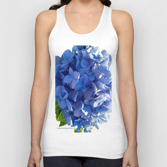 Blue Hydrangia Flower Blossom Unisex Tank Top